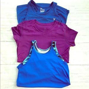 Old Navy & Champion Activewear Go Dry Shirt Bundle